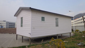 China White Eco Friendly Prefabricated Mobile Homes / Light Steel Log Mobile Homes supplier