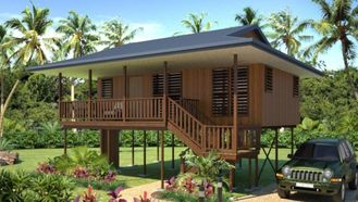 China new design Moistureproof Wooden House Bungalow / SAA Home Beach Bungalows supplier