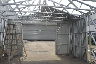 China Fireproof Light Steel Frame Metal Car Shed With Steel Sheet Cladding supplier