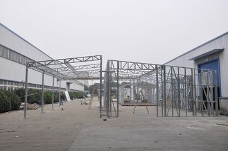 China Waterproof Prefabricated Sheds / Metal Car Sheds With Galvanized Steel Frames supplier