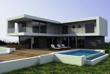 China Steel Structural Small Prefab Homes Prefabricated Villa / Modern Simple Style Villa distributor