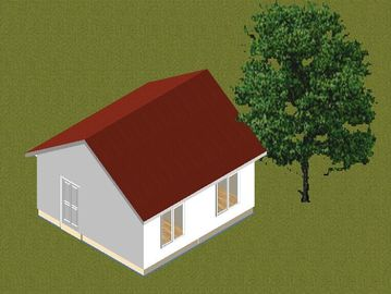 China Small Family Steel Frame Prefab Bungalow Homes / Contemporary Prefab Homes distributor