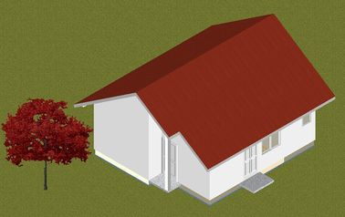 China Light Steel Prefab Bungalow Homes Fire Prevention Mothproof , Small Manufactured Homes distributor