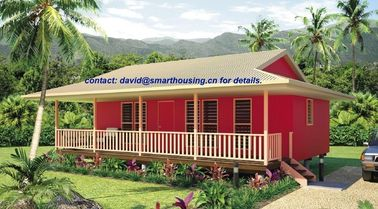 China Moistureproof Home Beach Bungalows , Fireproof Wooden House Bungalow distributor