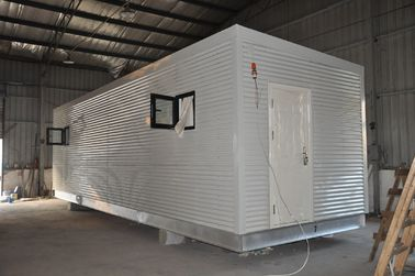 China Steel Frame Prefab Modular Homes , Mobile Guard House For People Living distributor