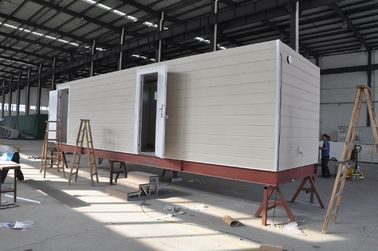 China Prefab Mobile Cabin House / Steel Frame Prefab Modular Homes For Guard House distributor